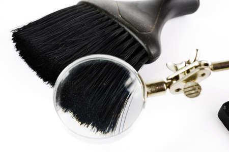 close up: close up of black brush Stock Photo