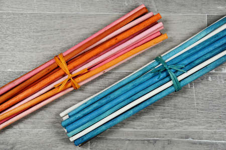 potpourri: scented colored wooden chopsticks