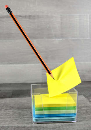 good news: sticky notes questions or decision making concept