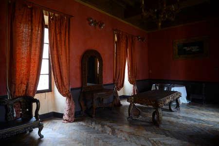 17th: Interior view of a 17th century villa in Italy