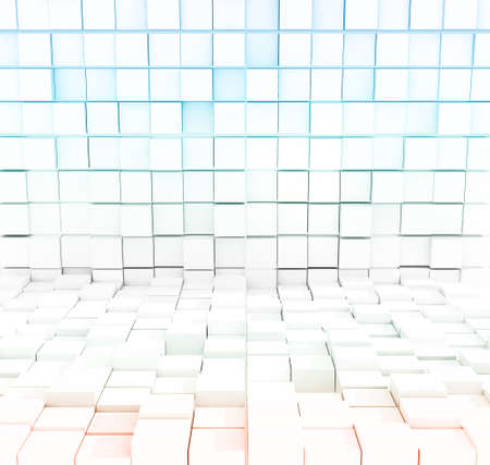abstract white cubic background Imagens