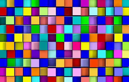 abstract colorful cubic background Imagens - 75530519