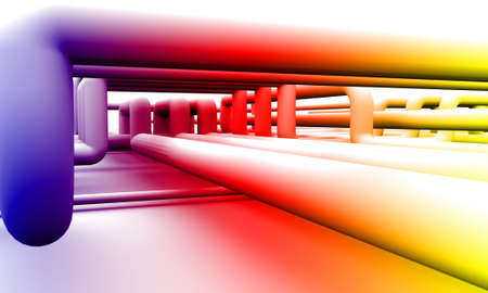 many coloured: abstract colorful piping background Stock Photo