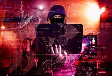 dangerous hacker stealing data -industrial espionage concept