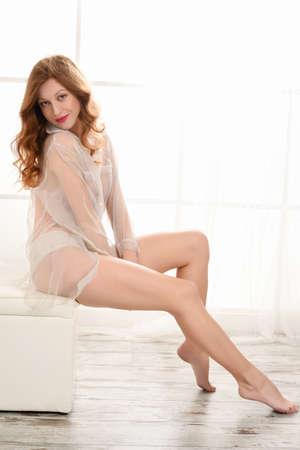 beautiful woman  body care relaxing Stock Photo