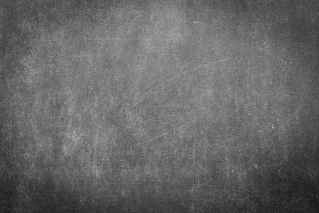 empty board: Black chalk board surface for background Stock Photo