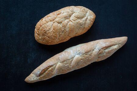 bread on black chalkboard