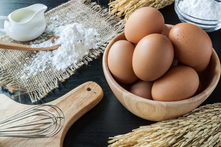 Eggs with Baking powder for dessert