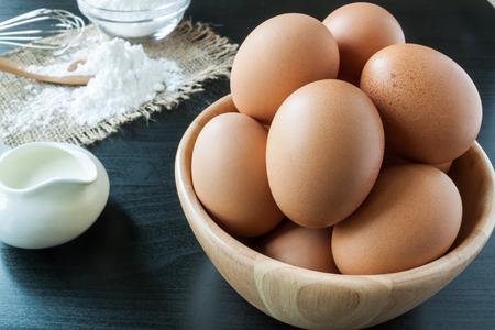 Eggs with Baking Powder For dessert Zdjęcie Seryjne