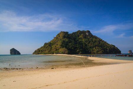 Beautyful island and twin sea beach at koh kai , Krabi Thailand