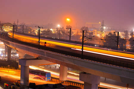 Delhi metro long exposure