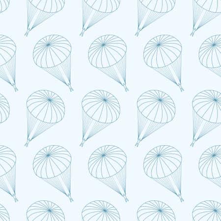 parachute jump: vector seamless pattern with  parachutes Illustration