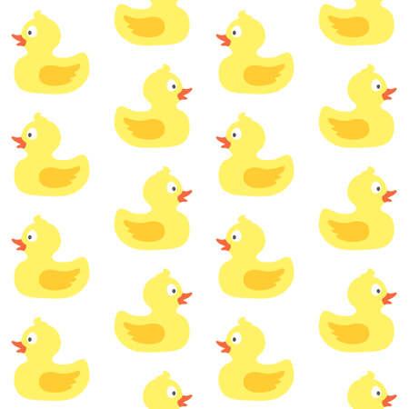 vector seamless pattern with cute rubber ducks Иллюстрация
