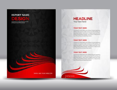 informe: Negro ilustración vectorial Informe anual, diseño de la cubierta, diseño de folletos, diseño de la plantilla, diseño gráfico, ilustración vectorial, cubierta de informe, el fondo abstracto, fondo polígono, cubrir la plantilla