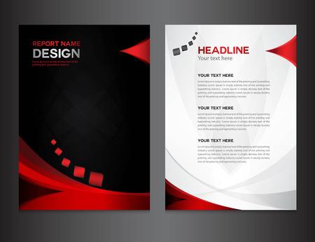 rojo Ilustración Informe anual vectorial, diseño de la cubierta, diseño de folletos, diseño de la plantilla, diseño gráfico, ilustración vectorial, cubierta de informe, el fondo abstracto, fondo polígono, cubrir la plantilla