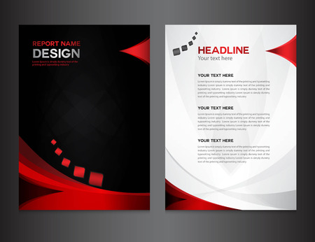 red Annual report Vector illustration,cover design, brochure design, template design,graphic design,vector illustration,report cover, Abstract background,polygon background, cover template Vettoriali
