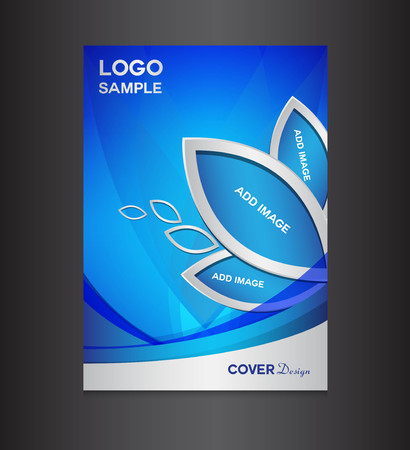 blue Cover design template, cover design, printing design, vector illustration, silver background , report cover,report template