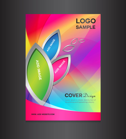 pink Cover design template, cover design, printing design, vector illustration, silver background , report cover,report template