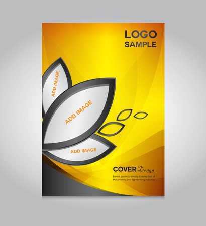 magazine page: gold Cover design template, cover design, printing design, vector illustration, silver background , report cover,report template Illustration
