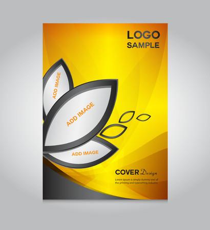 modèle d'or de couverture de conception, conception de la couverture, la conception d'impression, illustration vectorielle, fond argent, rapport couverture, modèle de rapport