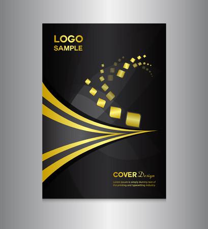 modello nero Cover Design, disegno della copertura, disegno di stampa, illustrazione vettoriale, sfondo argento, copertura rapporto, modello di report
