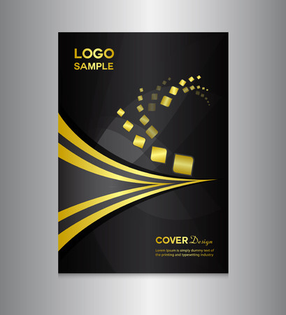 zwarte Cover ontwerpsjabloon, cover ontwerp, afdrukken ontwerp, vectorillustratie, zilveren achtergrond, rapport cover, rapportsjabloon