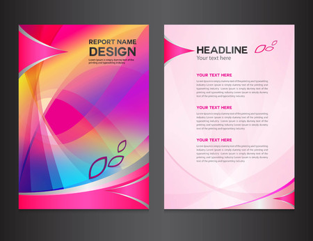 magazine layout design template: pink Annual report Vector illustration,cover design, brochure design, template design,graphic design,vector illustration,report cover, Abstract background,polygon background