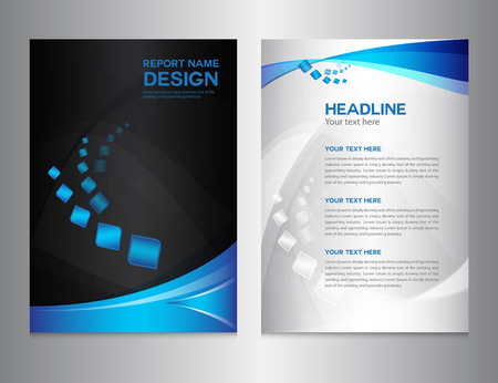 ilustración azul Informe anual del vector, diseño de la cubierta, diseño de folletos, diseño de la plantilla, diseño gráfico, ilustración vectorial, cubierta de informe, el fondo abstracto, fondo polígono Ilustración de vector