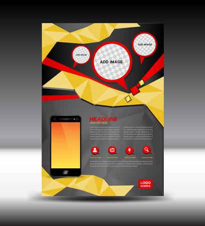 booklet design: gold and black brochure, magazine, Mobile, layout, leaflet design, presentation template,Cover design,illustration,Cover Annual report,page, magazine, design,company profile, portfolio,booklet