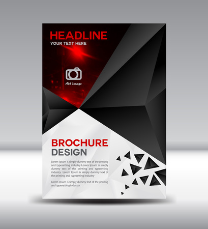 portfolio: Black brochure,Cover design, magazine, template, leaflet design, presentation template, illustration,Cover Annual report,page,company profile, portfolio,booklet,size A4
