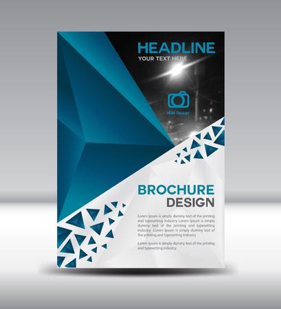 company profile: Blue brochure,Cover design, magazine, template, leaflet design, presentation template,illustration,Cover Annual report,page,company profile, portfolio,booklet,size A4 Illustration