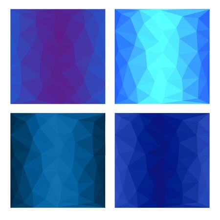 blue backgrounds: Set Blue Polygonal backgrounds Abstract Geometric backgrounds Illustration