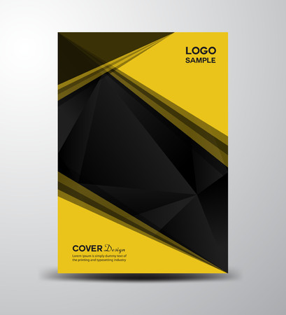 cover: Yellow Cover design ,cover Annual report, brochure ,Polygon Background, leaflet,book cover,booklet, notebook cover, template design,portfolio,Yellow cover,presentation,profile,Folder Illustration