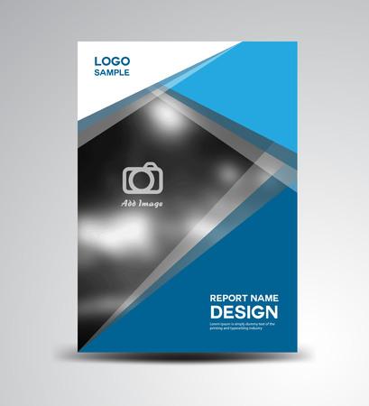 Blue Cover Jaarverslag, omslag ontwerp, brochure ontwerp, fl-yer Brochure ontwerp, boekomslag, vector illustratie, rapportomslag, Abstracte achtergrond, veelhoek achtergrond, business template Stockfoto - 53298147