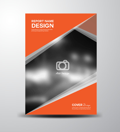 Orange Cover Annual report,cover design, brochure design, fl-yer Brochure design,Book cover,vector illustration,report cover, Abstract background,polygon background,business template Illusztráció