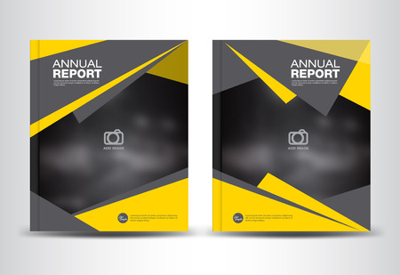 Red Cover Annual Report TemplatePolygon BackgroundBrochure