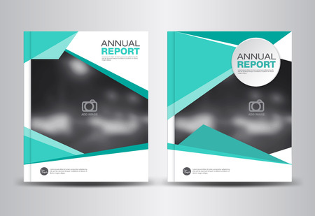 company profile: Annual report template,polygon background,brochure design,cover template,fl-yer design,portfolio,Leaflet,presentation template,book cover,booklet,cataloge,green background Illustration