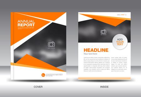 catalogs: Orange Annual report template,brochure design,cover template,fl-yer design,polygon background,portfolio,Leaflet,presentation template,book cover,booklet,catalogs,Orange background