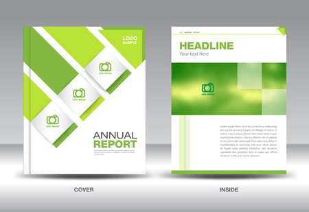 catalogs: Green Annual report template,brochure design,cover template,fl-yer design,polygon background,portfolio,Leaflet,presentation template,book cover,booklet,catalogs,Green background