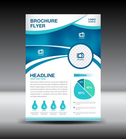 profile: Blue and White brochure,Cover design, magazine, template, leaflet design, presentation template,illustration,Cover Annual report,page,company profile, portfolio,booklet,size A4