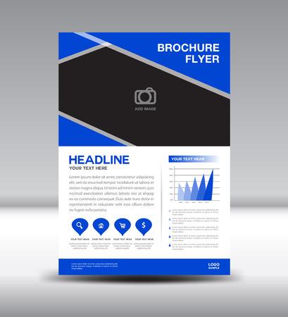 fl: Blue Leaflet template and info graphics vector design,Brochure fl yer template,newsletter design