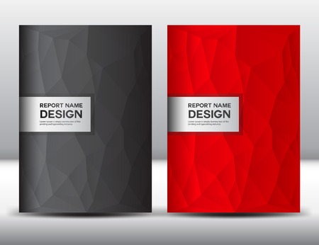 fl: Set Red and black Cover template,annual report, brochure fl yer,presentation templates,book cover,business fl yer, polygon background