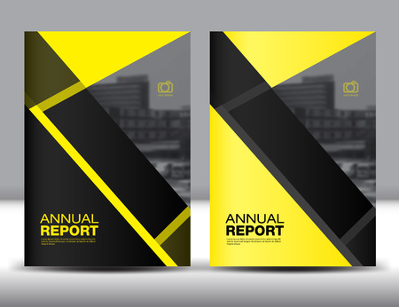 Set Yellow Cover Template, annual report,brochure fl yer,presentation templates,book cover, polygon background