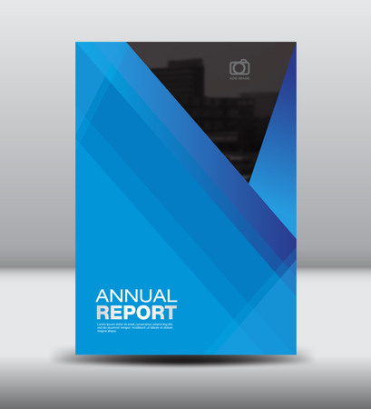 fl: Blue Cover annual report, Cover template, brochure fl yer,book cover,leaflet, Blue background Illustration