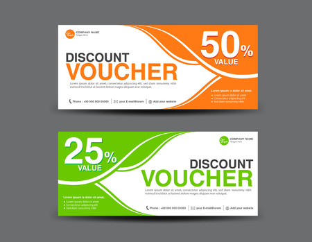 Discount Voucher template, coupon design,ticket, card design,Gift Voucher template, business banner template,invitation Illustration