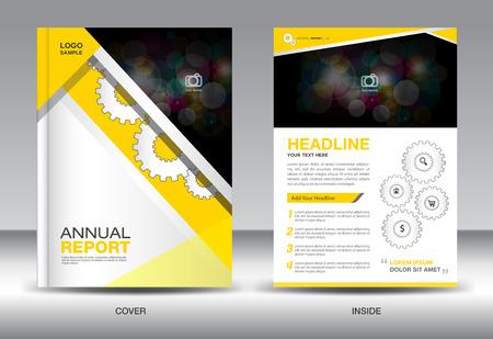 catalogs: Yellow Annual report template,brochure design,cover template,fl-yer design,polygon background,portfolio,Leaflet,presentation template,book cover,booklet,catalogs