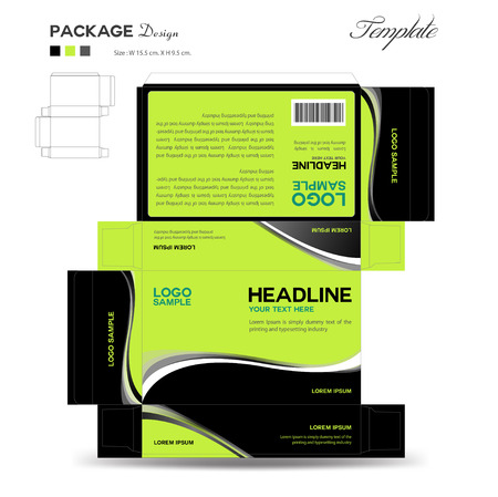 box design: Supplements and Cosmetic box design,Package design,template,box outline,flyer design,vector illustration