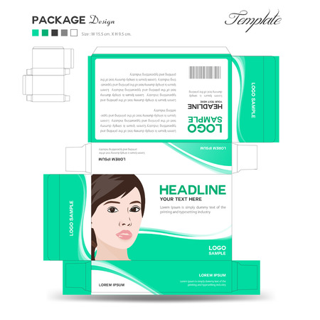 supplements: Supplements and Cosmetic box design,Package design,template,box outline,flyer design,vector illustration