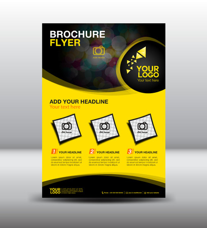 business brochure flyer design layout template in A4 size, newsletter Leaflet poster flyer layout vector, geometrical background