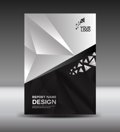 Black and White Cover design and Cover Annual report vector illustration,booklet,poster